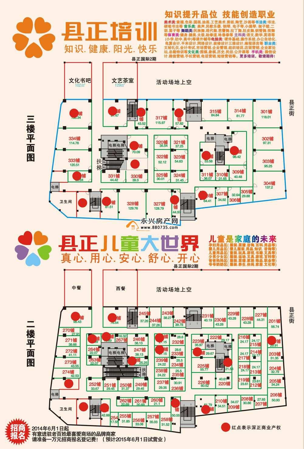 县正国际开盘商铺海报